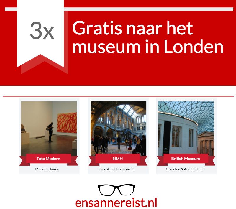 Gratis naar museum in Londen