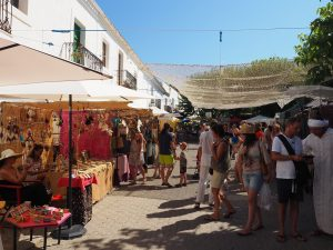 Hippiemarkt in San Joan
