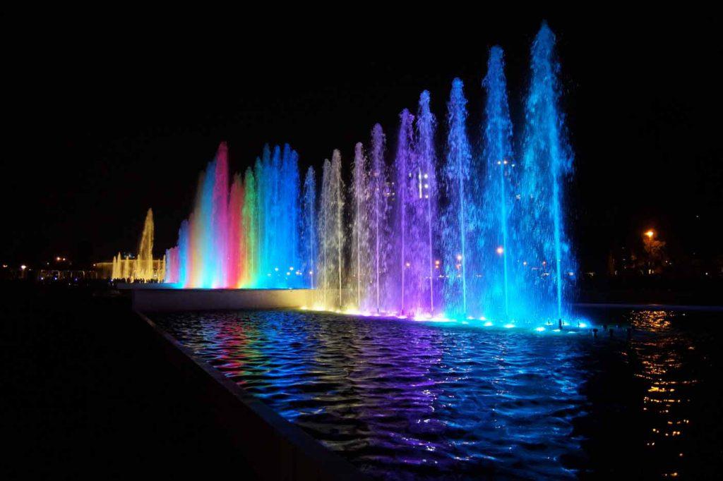 Lichtshow steden avond